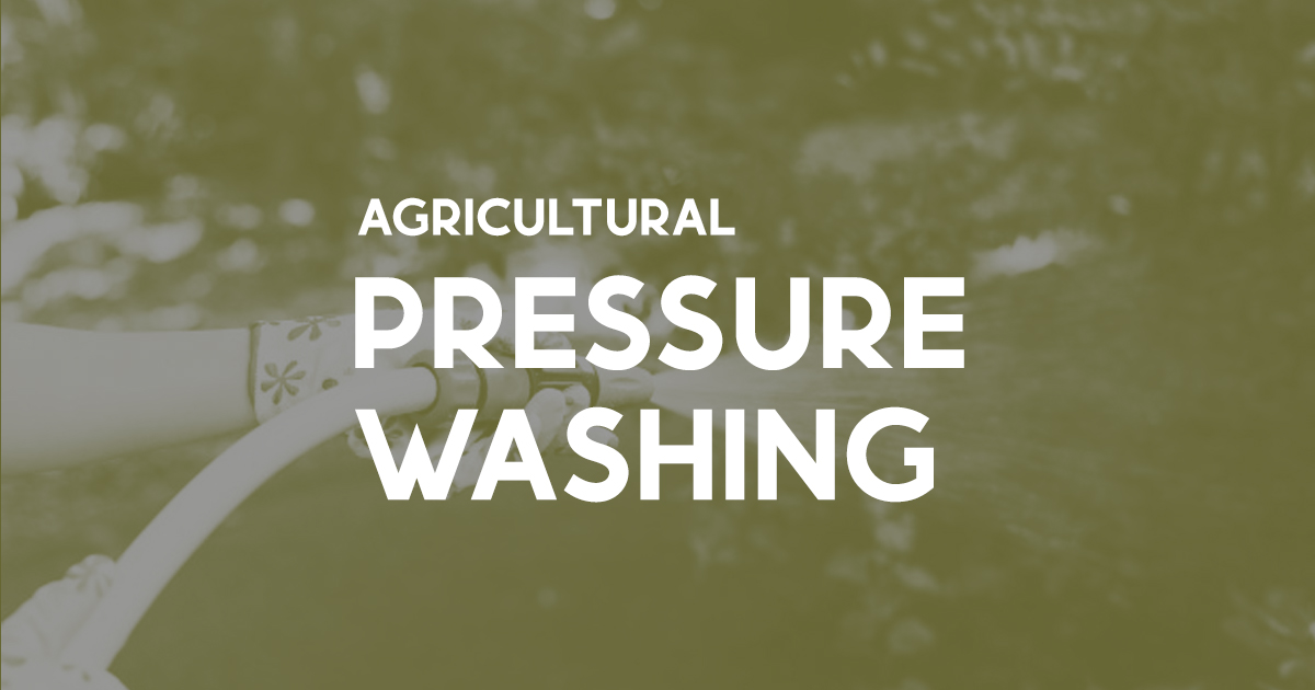 agricultural pressure washing