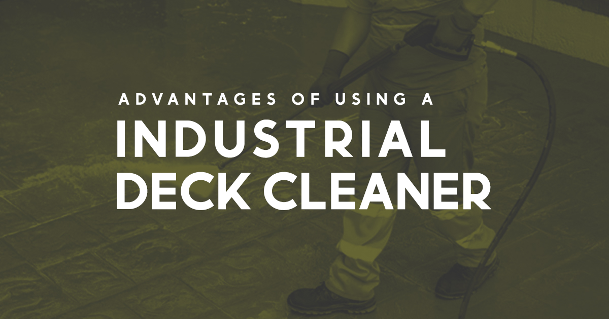industrial deck cleaner